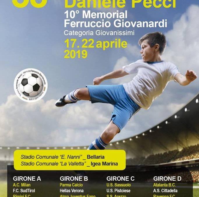 Gli under 14 di Asta al 38° Torneo Daniele Pecci di Bellaria Igea Marina. In campo, fra le altre, con Milan, Parma, Sassuolo, Hellas Verona e Atalanta